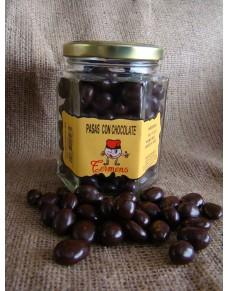 Chocolate with Raisins jar 180gr.